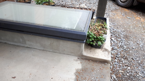 basement rooflight outdoors