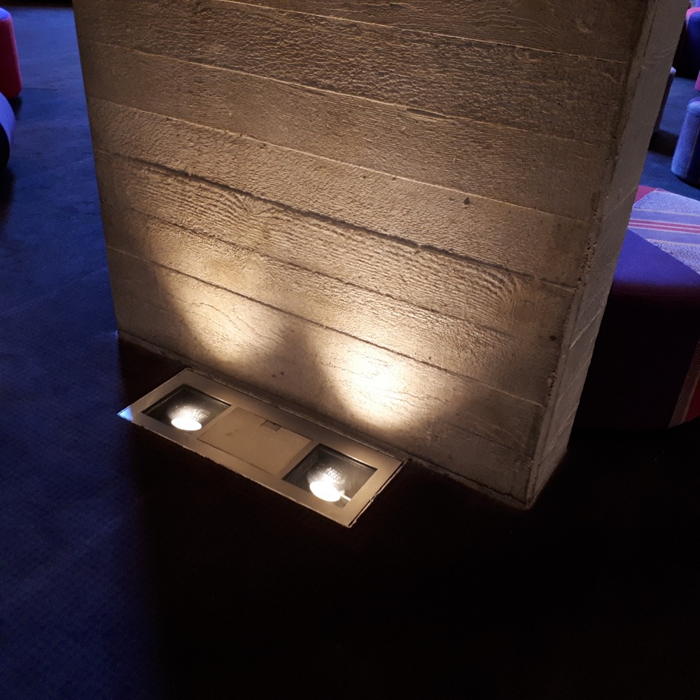 brutalist bare concrete lighting