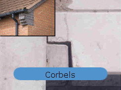 Corbels waterproof basement construction ICF