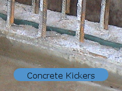 kickers in basement concrete