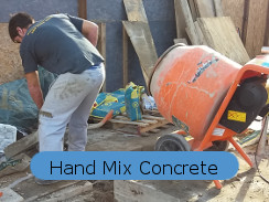 waterproofing hand mix concrete