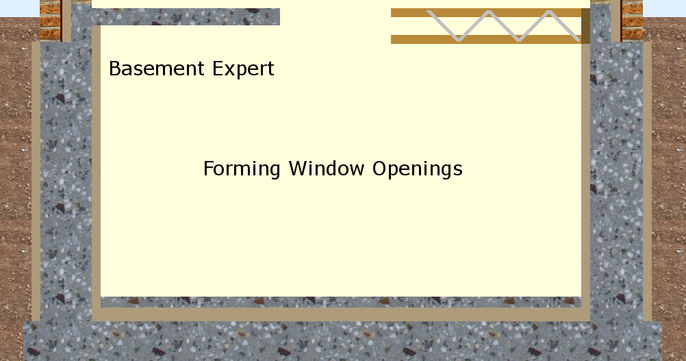 self build waterproof basement formwork membrane concrete window openings
