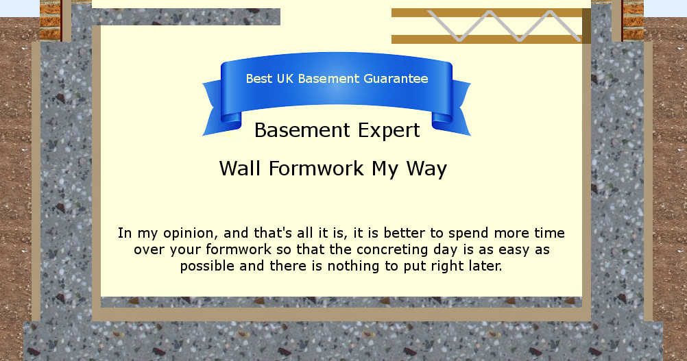 self build waterproof basement membrane concrete formwork