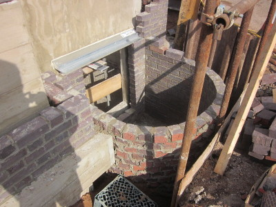 waterproof concrete basement window opening brickwork